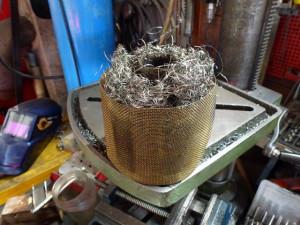 Intérieur du filtre à air