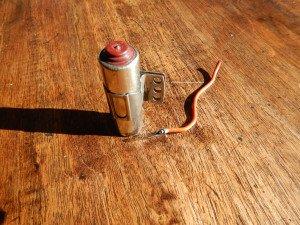 condensateur dont le fil a été sectionné